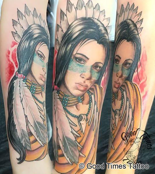 Indianer Tattoo von Good Times Tattoo Philippsthal