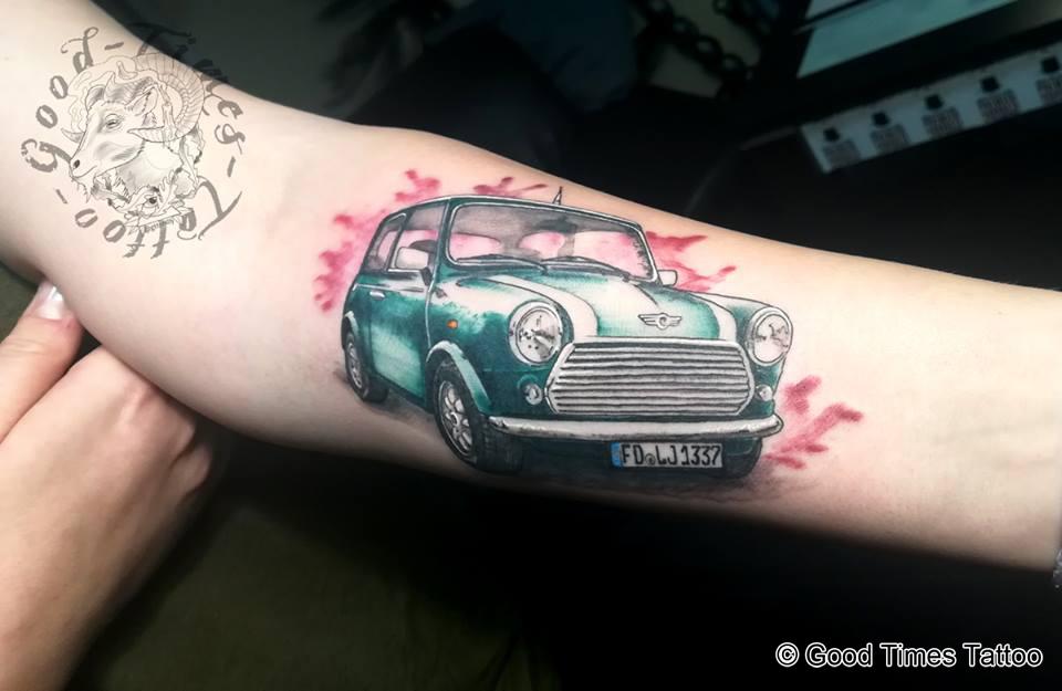 Mini Cooper Tattoo von Good Times Tattoo Philippsthal