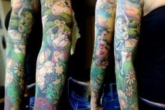 Alice im Wunderland Sleeve Tattoo von Good Times Tattoo Philippsthal