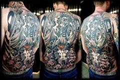 Backpiece Skull King Tattoo von Good Times Tattoo Philippsthal
