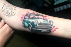 Mini Cooper Tattoo von Good Times Tattoo Philippsthal